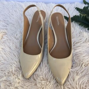 NWOB Merona nude slingback kitten heels size 9